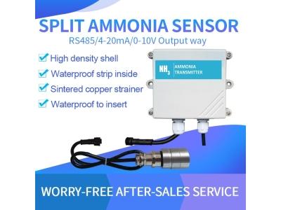 RS485/4-20mA Split probe external probe NH3 gas sensor for narrow space