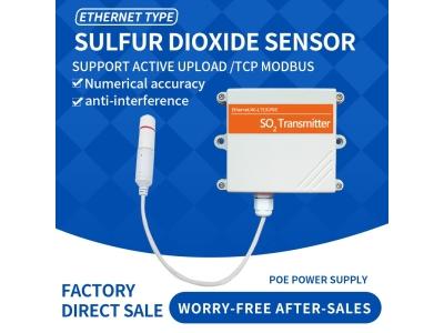 Ethernet DC/POE+RJ45 So2 gas sensor Sulfur dioxide wireless sensor