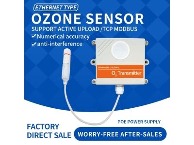 Ethernet DC/POE+RJ45 O3 gas sensor OZONE wireless sensor