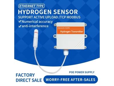 Ethernet DC/POE+RJ45 H2 gas sensor hydrogen wireless sensor