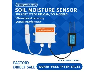 Ethernet DC/POE+RJ45 Soil moisture gas senso Soil moisture wireless sensor for Wisdom irrigation