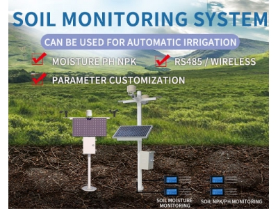 Soil monitoring system Soil temperature, moisture, ph, NPK online monitoring, can be used for automatic irrigation
