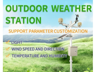 Multi-element solar outdoor weather station Meteorological instrument wireless weather monitoring system