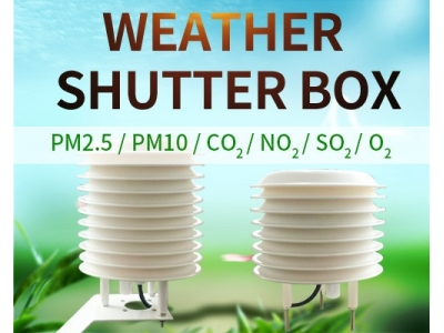 Professional weather station Louver weather sensor highly integrated, weather  monitoring parameters are optional
