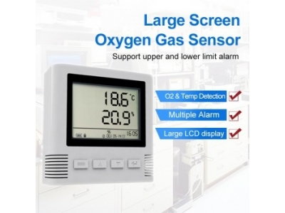 LCD Large Screen O2 Oxygen Gas analysis Sensor with Alarm