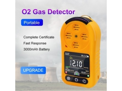 Portable O2 Gas Sensor Industrial Oxygen Gas Detector