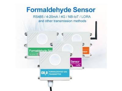 Wall Mounted CH2O Gas Sensor Indoor Air Quality Formaldehyde Detector