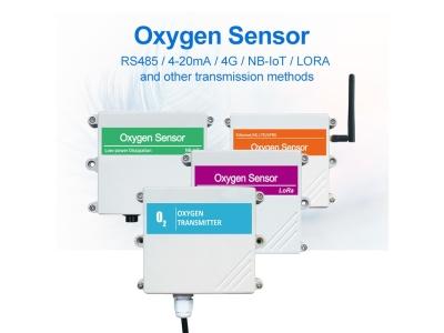 Wall Mounted O2 Gas Sensor High Accuracy Oxygen Gas Detector