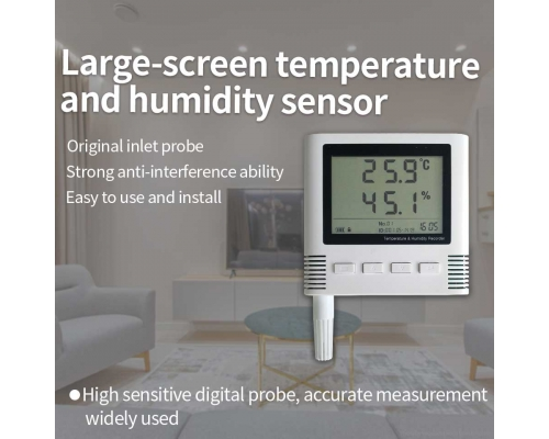 4G/GPRS/WIFI/RS485 temperature and humidity sensor with screen